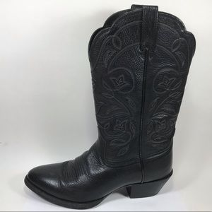 Ariat Heritage Black Leather Cowboy Boots Sz 7.5B